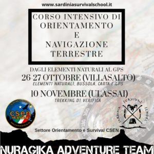 Corso intensivo di Orientamento e Navigazione terrestre @ Villasalto